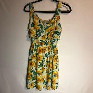 American Rag Yellow Floral Print Dress